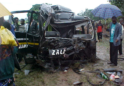 ZAMBIA CAR ACCIDENT - NOT ACTUAL ACCIDENT IN STORY