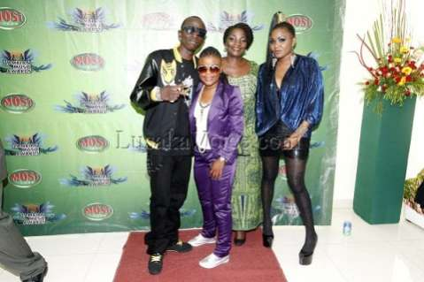 L-r Musicians Macky 2, Judy, Maureen Lilanda and Kay pose for a Photograph at the Zambian Music Awards at government complex in Lusaka on Friday Night