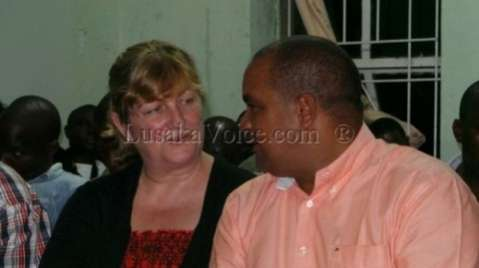 Newly elected member of Parliament for Livingstone Central Lawrence Evans and his wife