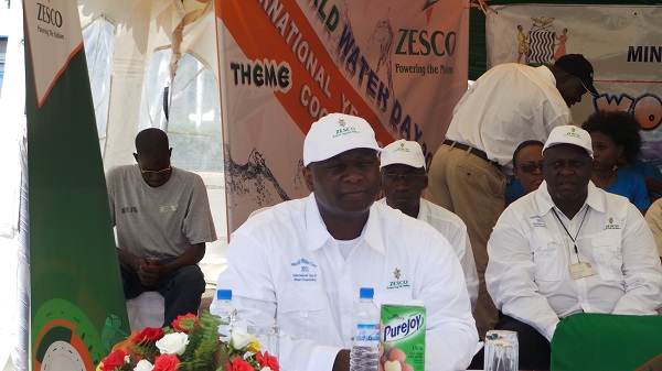 ZESCO managing director Syprian Chitundu concentrates during the commemoration of world water day at Levy junction last Friday