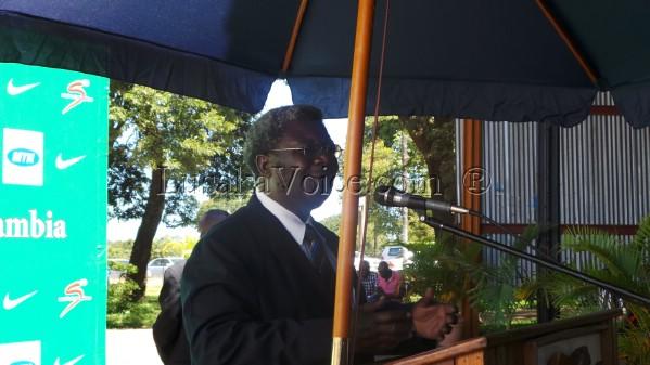NATIONAL Sport council of Zambia chairman Mwamba Kalenga