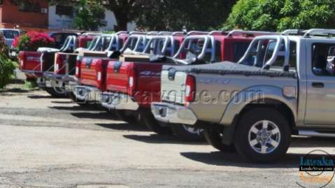 Newly created district councils receive vehicles, equipment    LuakaVoice.com