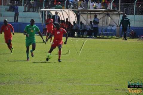 COSAFA Jul 13  - Malawi ( Blue)  v. Zimbabwe (RED) at Nkoloma Stadium - Lusakavoice.com
