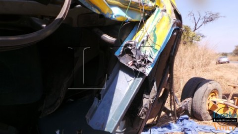 Truck Drivers  Cheat death in July 19th  accident between Kapiri Mposhi and Copperbelt