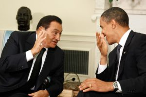 Barack Obama and Hosni Mubarak