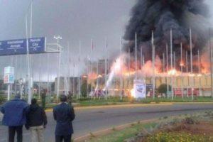 'Massive' fire shuts Kenya's international airport in Nairobi