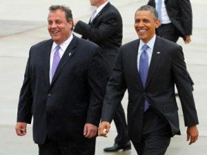 New Jersey Republican Gov. Chris Christie , LEFT