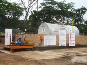 Filling Station at Kalumbila Camp.