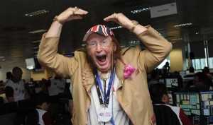 John McCririck's on-air act is described as 'a pantomime style of exaggerated delivery'