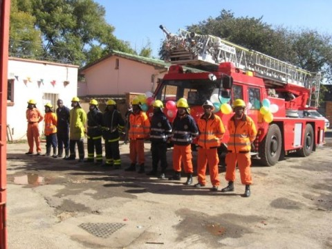 handover ceremony of ten fire engines