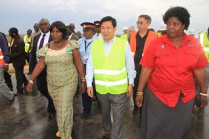 Amb. Zhou was inspecting the road