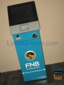 FNB Slimline Cashless ATM - Lusakavoice.com