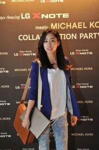 Jeon Hye-Bin at the LG Xnote Michael Kors collaboration party, on March 2010