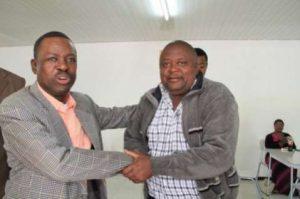 Kabimba with Robert Chikwelete