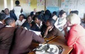 PCB delegates attends a lesson on comprehensive sexuality education at a primary school in Lusaka.
