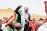 Patriotic Front Party Mansa Central Constituency Member Parliament Dr Chitalu Chilufya is lifted shoulder high by ecstatic supporters after being declared as the victor in the just ended by election. – Picture by ALEX MUKUKA