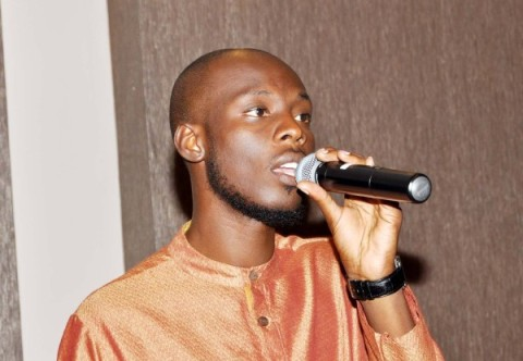 Pompi during the LAZ programme for Anti-GBV Breakfast in Lusaka on October 22,2013