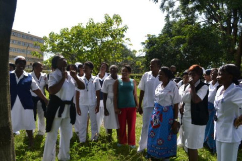 nurses at Kitwe Central Hospital