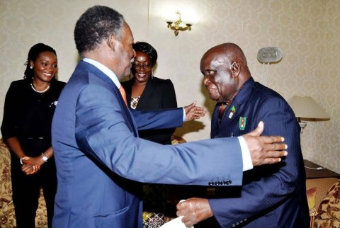 President Sata visits Dr. Kenneth David Kaunda