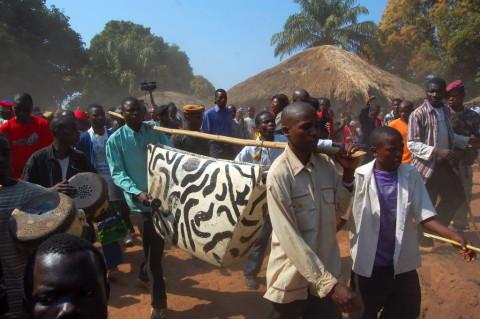 Umutomboko ceremony at Mwansabombwe village between Mwense town and Lake Mweru