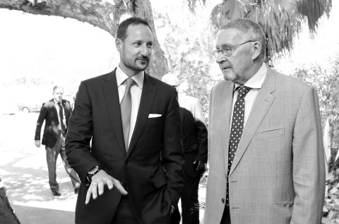 Dr Guy Scott on Tuesday Hosted Lunchon for the Visiting Crown Prince Magnus Haakon of Norway at Goverment House in Lusaka- 29-10-2013.