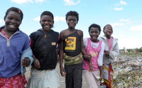 street children and young people in Zambia