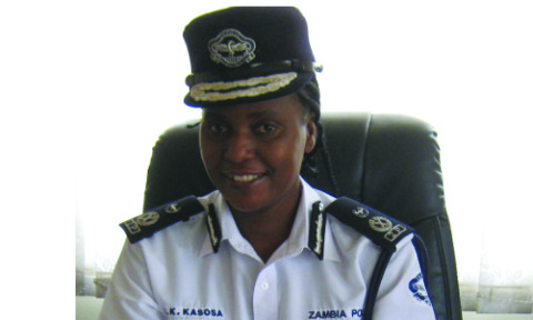 Copperbelt police chief Joyce Kasosa