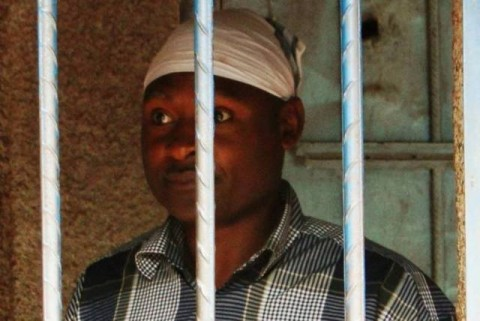 Fr Frank Bwalya in Police cell at Kasama Police