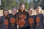 From left, Trinity Academy students Sophie Preston, Ashley Woodfin, Sarah Schulz, Allie Lawrence and Leslie Meadowcroft are planning a free-throw marathon Feb. 21
