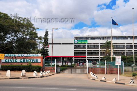 Zambia, Lusaka, Independence Ave, Civic Centre