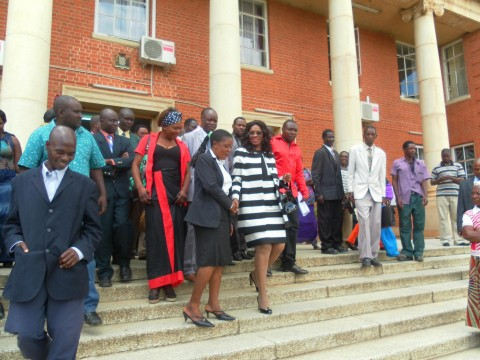 Monday Feb 24th 2014, photos of Sylvia Masebo with my sister, my lawyers and my people from chongwe at the Supreme Court.1