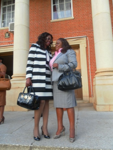 Monday Feb 24th 2014, photos of Sylvia Masebo with my sister, my lawyers and my people from chongwe at the Supreme Court