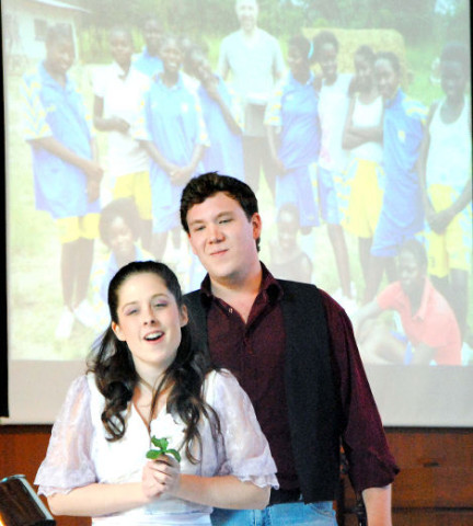 OFFERING HOPE Meaghan Sider and Joshua Clemenger sing favourites from Oklahoma at the Same World Same Chance benefit concert Saturday at Central United Church. LAURA CUDWORTH:The Beacon Herald