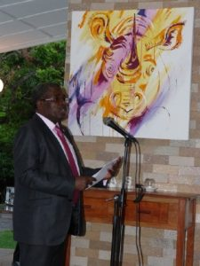 Permanent Secretary Steven Mwansa on behalf of the Ministry of Tourism