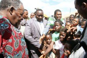President Michael Sata addressing a Rally in Katuba