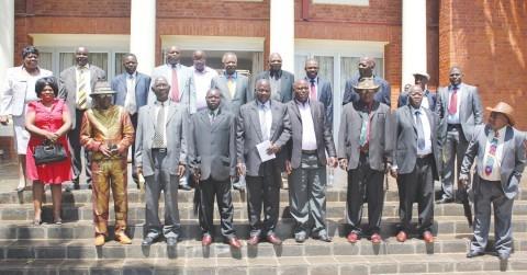 Southern Province chiefs. The traditional leaders include chiefs Mukuni, Nyama, Chikanta, Simwatachela, Singani, Macha, Sinazongwe, Chipepo, Simaaba, Shimbizi, Kaingu, Hamusonde, Mwanachingwala and senior chiefs Monze and Nalubamba