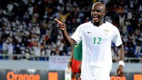 Zambia striker James Chamanga