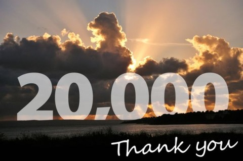 We have reached 20,000 likes on our Facebook page