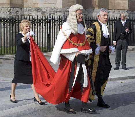 British Lord Chief Justice, in red