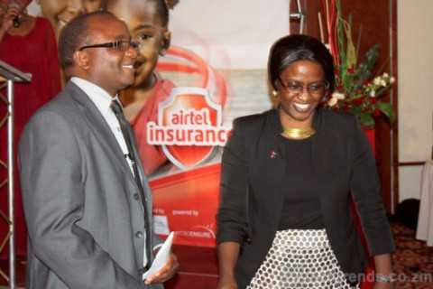 Felix Nkulukusa ,PS of Minitry of Finance, and Charity Lumpa, Managing Director of. Felix Nkulukusa ,Ministry of Finance PS, and Charity Lumpa
