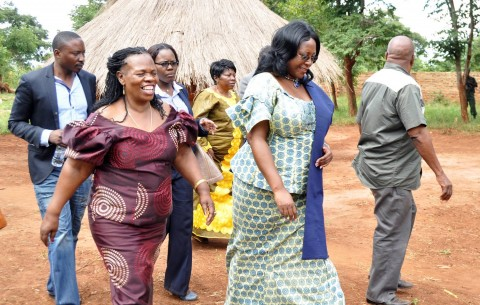 First Lady Dr Christine Kaseba was in Kalomo, Southern Province to launch a pilot training project to train Headmen and Community Leaders in curbing Gender Based Violence