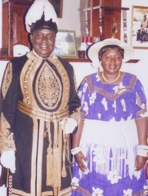 HRM The Litunga, King of Barotseland, Lubosi Imwiko II with Princess Mulako, The Muoyo Muamba, his wife