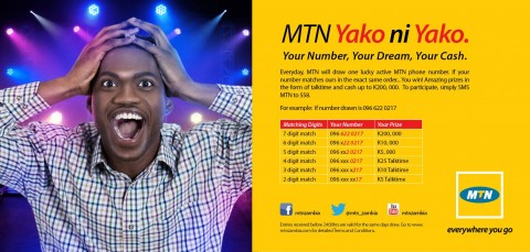 MTN Zambia launches Yako ni Yako lottery | Lusaka Voice