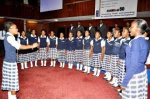 Matero Girls High School pupils during the First Lady's Youth Mentorship programme at Mulungushi International Conference Centre on March 11,2014 -Picture by THOMAS NSAMA