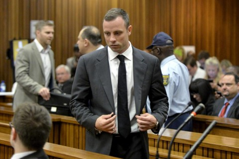 Pistorius arrives in court ahead of his trial at the North Gauteng High Court in Pretoria