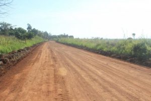 Road works within and around the Luapula Province