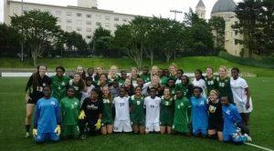 University of California - San Francisco team with  Zambia U17 Women's team