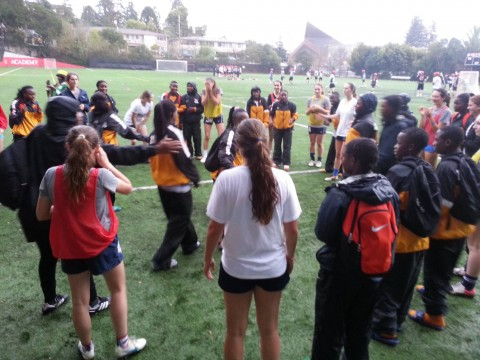 Zambia U17 womens team, currently in camp in San Francisco
