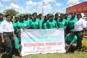 Bothwell Imakando Staff Training College officers during the women`s day celebrations