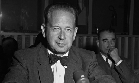 Dag Hammarskjöld in New York in 1956: a panel of retired judges called last year for a fresh inquiry into the crash. Photograph: Bettmann/Corbis